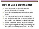 how to use a growth chart