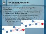 test of trustworthiness