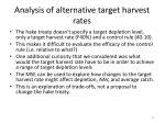 analysis of alternative target harvest rates