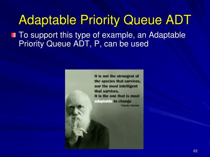 Adaptable Priority Queue ADT