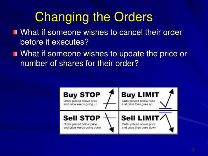 Changing the Orders