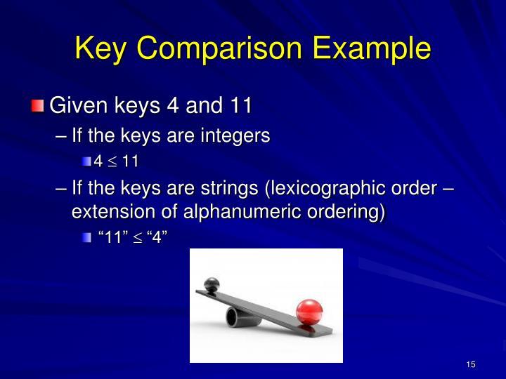 Key Comparison Example