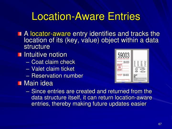 Location-Aware Entries