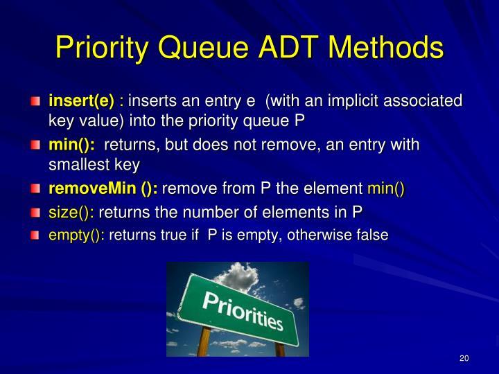 Priority Queue ADT Methods