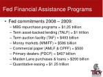 fed financial assistance programs