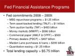 fed financial assistance programs1