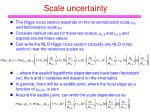 scale uncertainty