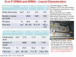 n on p spm30 and spm42 layout characteristics