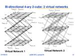 bi directional 4 ary 2 cube 2 virtual networks