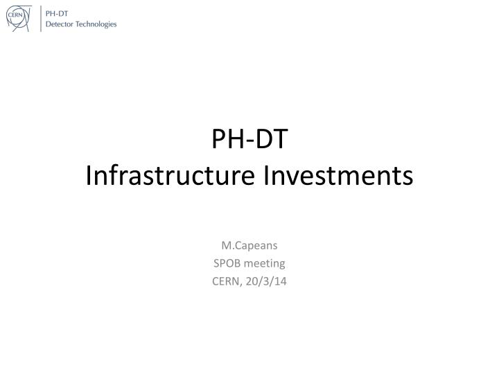 ph dt infrastructure investments n.