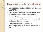 organisation de la mutualisation