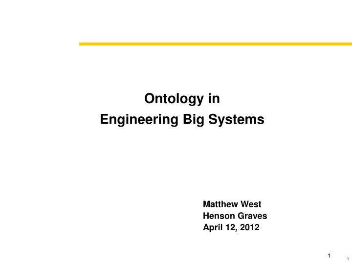 ontology in engineering big systems n.