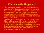 kids health magazine