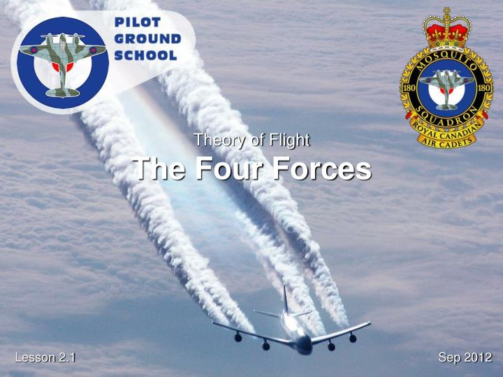 theory of flight the four forces n.