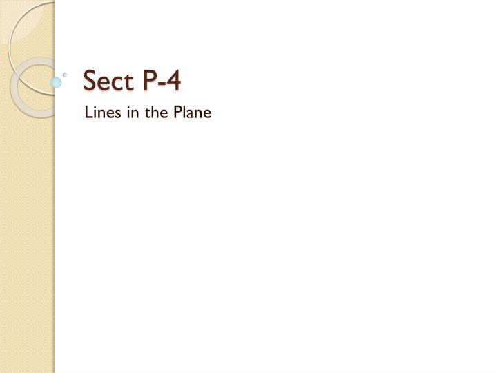 sect p 4 n.