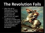 the revolution fails