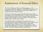 explanation of seasonal effect
