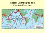 recent earthquakes and volcanic eruptions