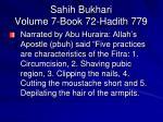 sahih bukhari volume 7 book 72 hadith 779
