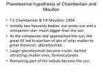 planetesimal hypothesis of chamberlain and moulton