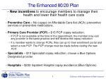 the enhanced 80 20 plan