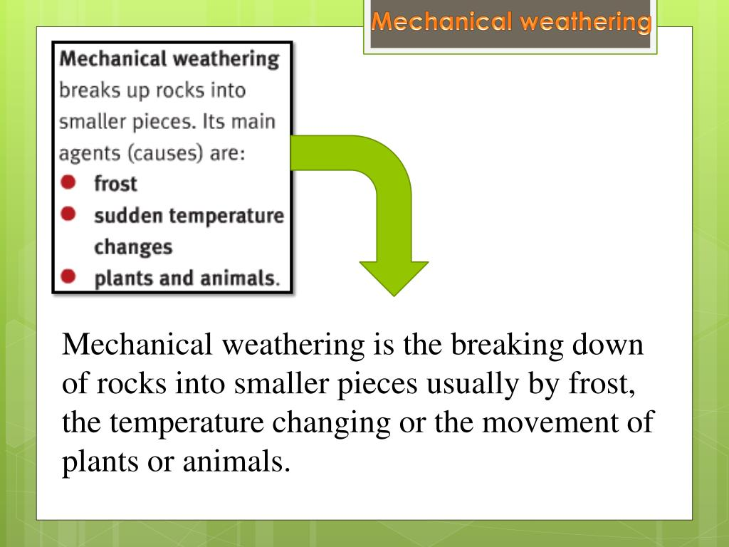PPT - Weathering and Erosion PowerPoint Presentation - ID
