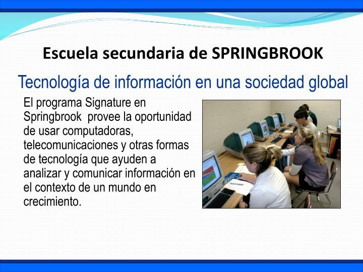 Escuela secundaria de SPRINGBROOK