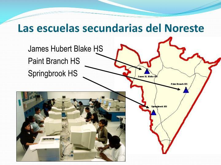 Las escuelas secundarias del noreste