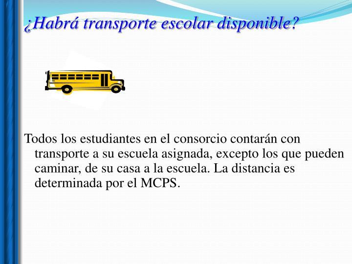 ¿Habrá transporte escolar disponible