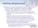 full time requirement