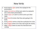 new verbs