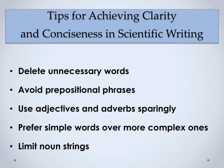 scientific writing phrases