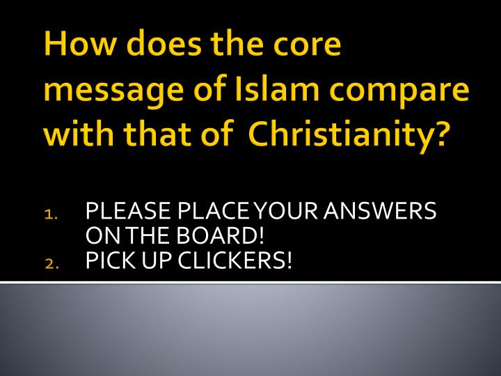 please place your answers on the board pick up clickers n.