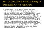 reason one muhammad s ability to breed rage in his followers