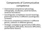 components of communicative competence