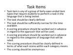 task items