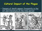 cultural impact of the plague