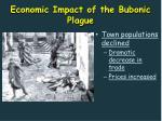economic impact of the bubonic plague