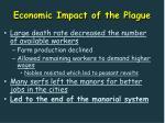 economic impact of the plague