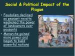 social political impact of the plague