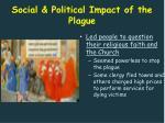 social political impact of the plague1