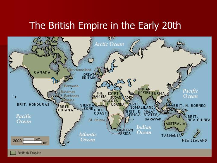 The British Empire in the Early 20th