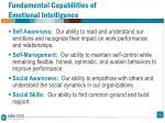fundamental capabilities of emotional intelligence1