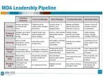 mda leadership pipeline