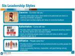 six leadership styles
