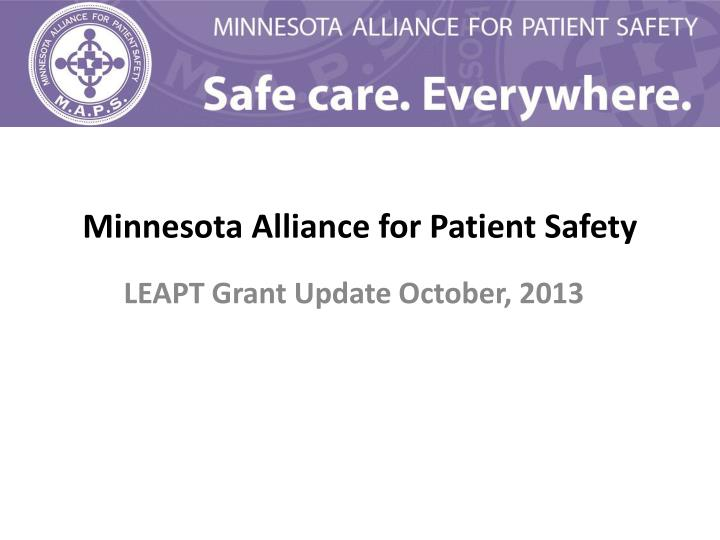 minnesota alliance for patient safety n.