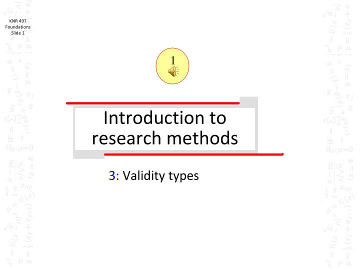 introduction to research methods n.
