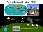 optical follow up with rotse
