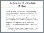 the supply of canadian dollars1