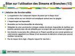 bilan sur l utilisation des streams et branches 1 2